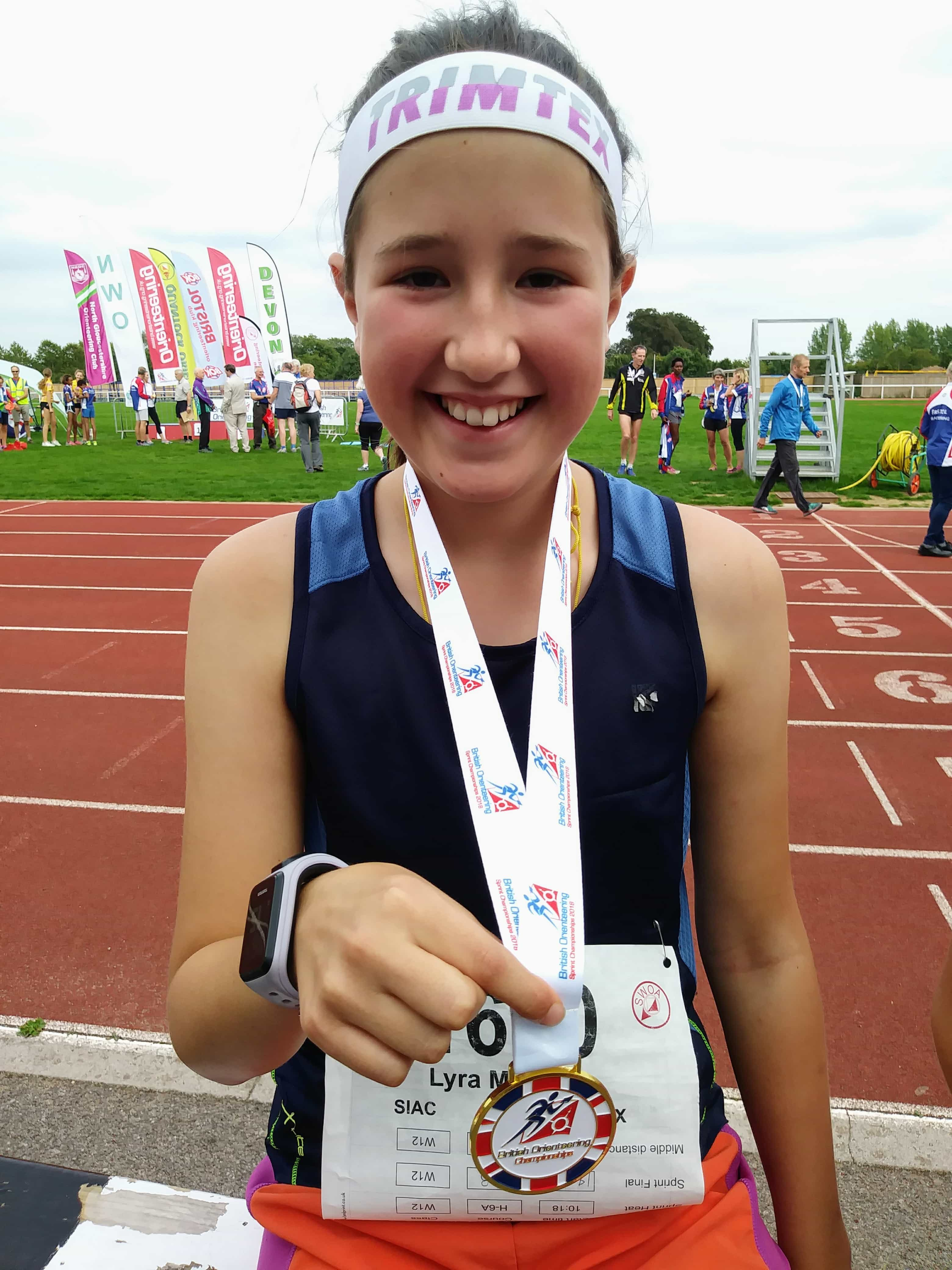 Lyra with medal